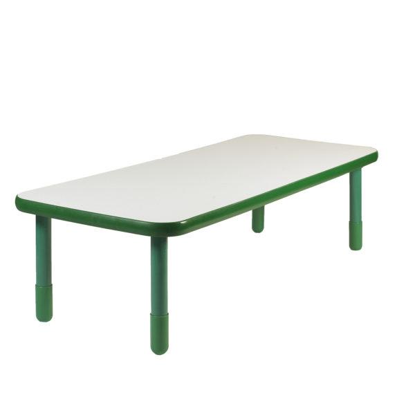 "BaseLine® 48"" x 30"" Rectangular Table - Shamrock Green with 18"" Legs"