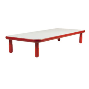 "BaseLine® 48"" x 30"" Rectangular Table - Red with 18"" Legs"