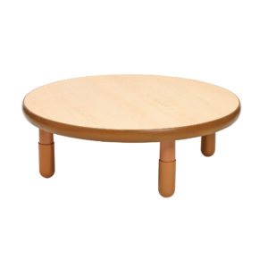 natural wood round value table
