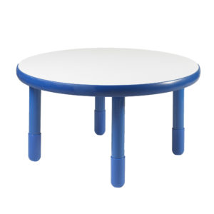 """BaseLine® 36""""Diameter Round Table - blue with 12"""" Legs"""