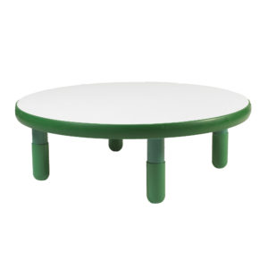 "BaseLine® 36""Diameter Round Table - Shamrock Green with 12"" Legs"