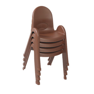 brown stackable plastic child chairs