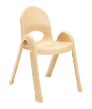 yellow plastic child chair