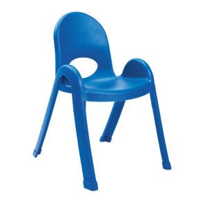 blue plastic child chair