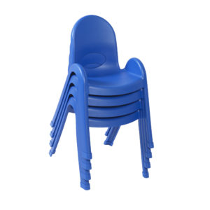 blue stackable plastic child chairs