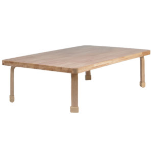 "Rectangle NaturalWood™ Table Top with 24"" Legs"