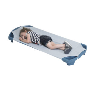 Child using gingham cot sheet standard size