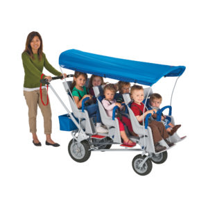 6 passenger stroller with children