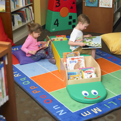 Our cozy Bookworm will liven up any reading space. Center seat is the perfect height for little ones to sit or lean against while reading. The attached book displays provide easy access to everyone's favorite books. The smiling face and tail provide an excellent floor cushion where little learners can sit and read or kneel comfortably.