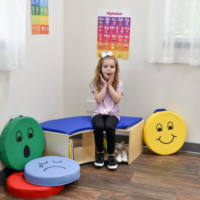 Seeing Faces for Social Emotional Learning with Floor Cushions
