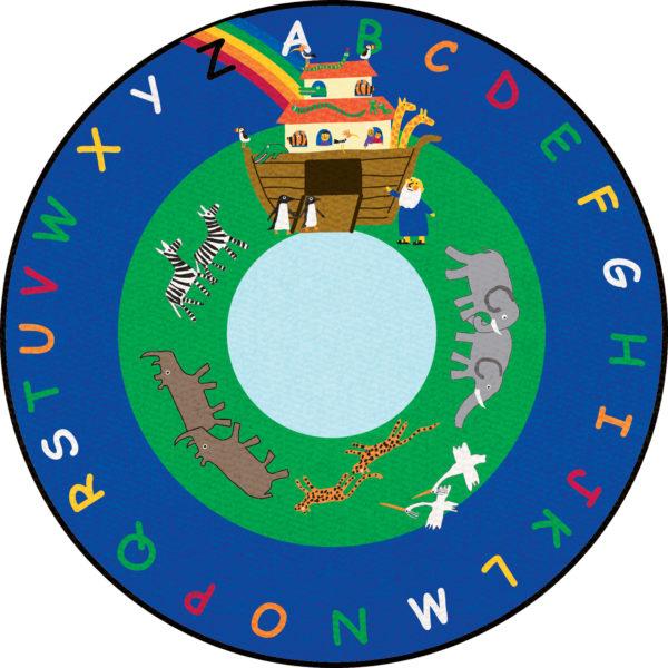 noahs ark alphabet carpet