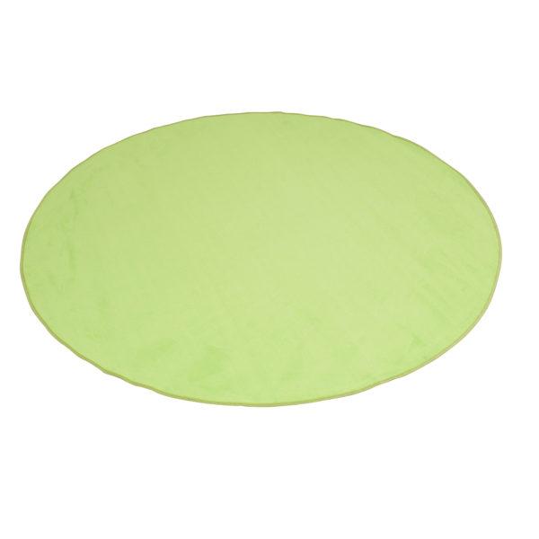 yellow round carpet