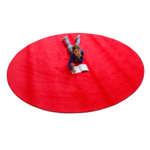 red round carpet