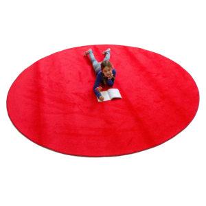 red round carpet