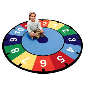 counting clock carpet