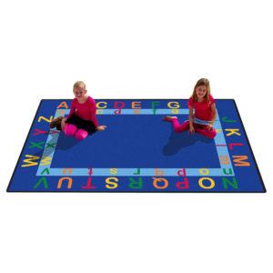 Upper and lower case alphabet carpet