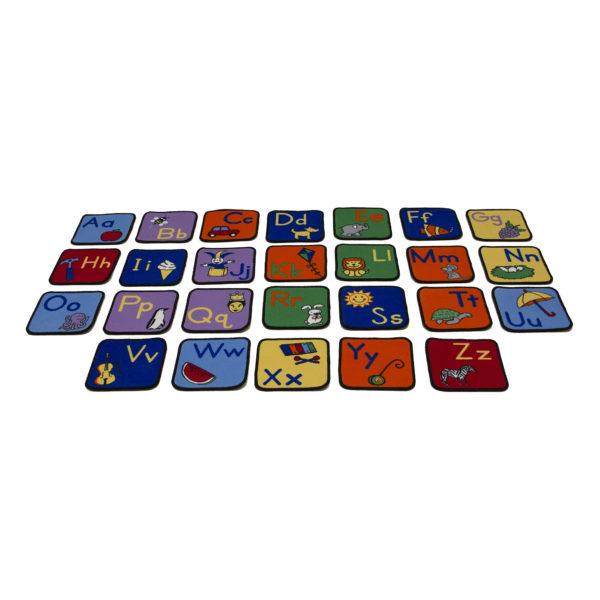 alphabet carpet squares