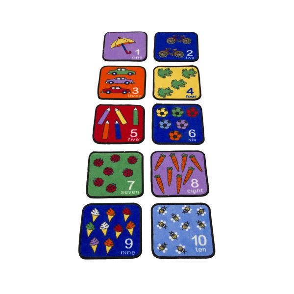 number carpet squares