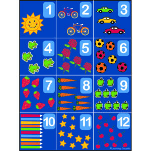 Number and symbols carpets for classroom
