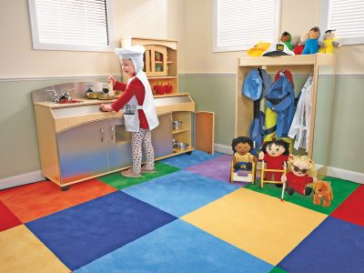 Dramatic Kitchen Play Areas Are Perfect for Corners