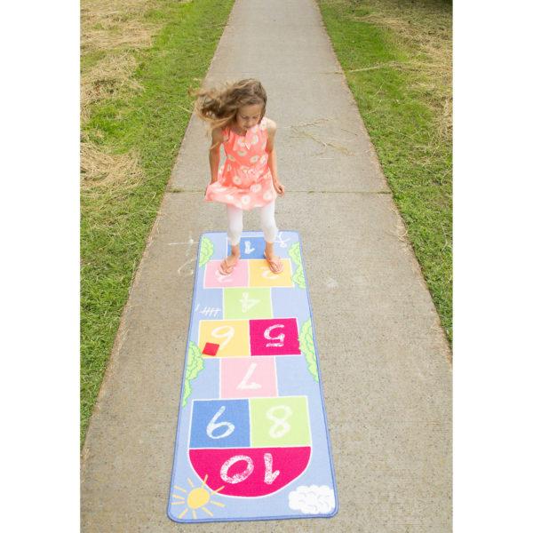 Pastel hopscotch carpet