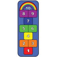 rainbow hopscotch learning carpet