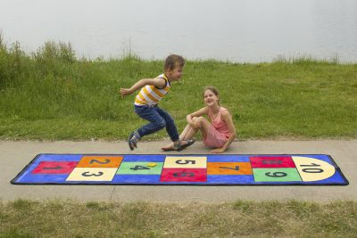 When skipping and jumping kids develop gross motor skills like balance and coordination.