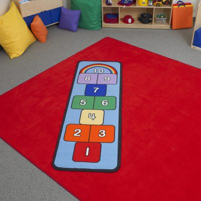 Hopscotch is great for gross motor skills.