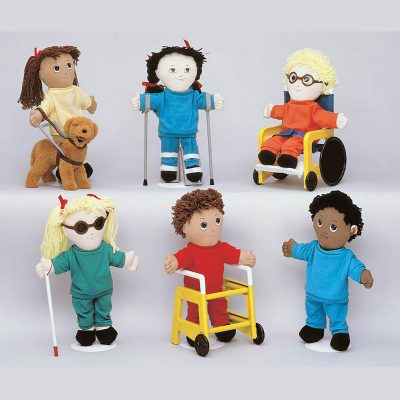 Sweat Suit Dolls with Special Needs Accessories Teach Compassion